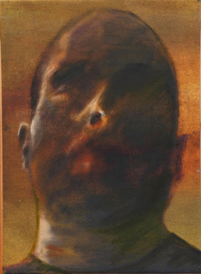 Autoportrait / 41 x 33 cm / Huile /t / collection New York / 2004